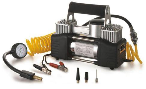منفاخ عجل للسيارة بامكانيات 2 سليندر،12 فولت يقوم بضغط الهواء بقوة 85 لتر/دقيقة