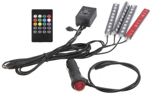 اضاءة led اضاءة داخلية للسيارة مع حساس صوت