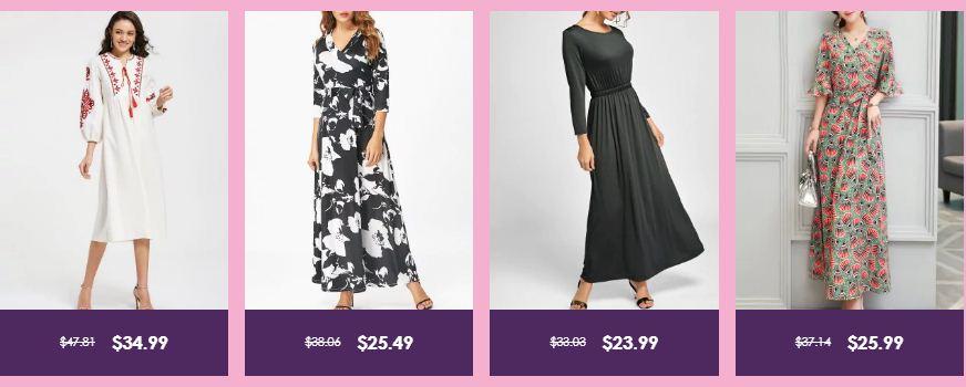 عروض زافول على منتجات مختارة من الملابس النسائية