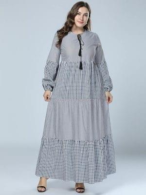 كود خصم جولي شيك للعيد فستان مخطط