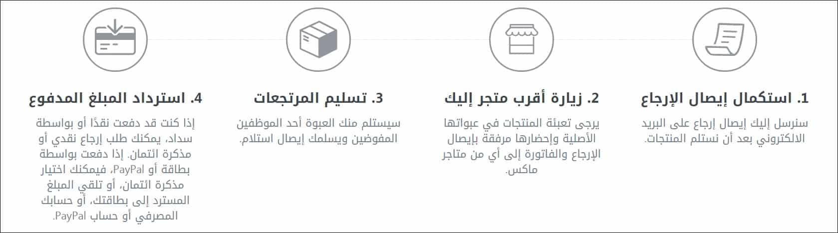 citymax السعودية خطوات الارجاع عبر المتجر