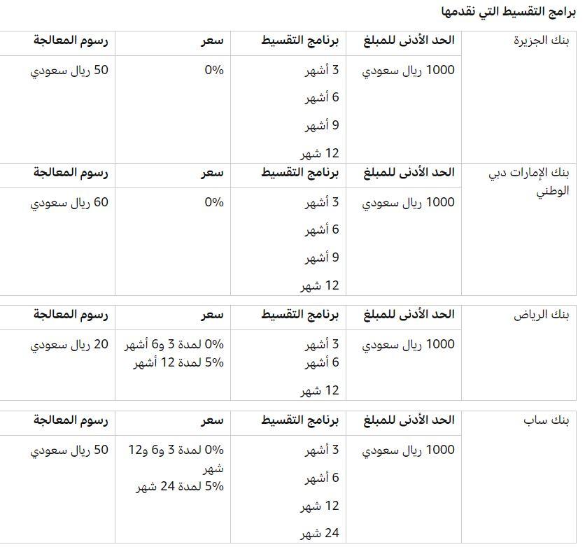 برامج التقسيط من امازون السعودية