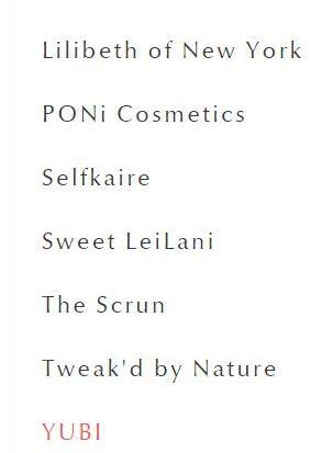 براندات الميك اب في موقع makeupboxldn