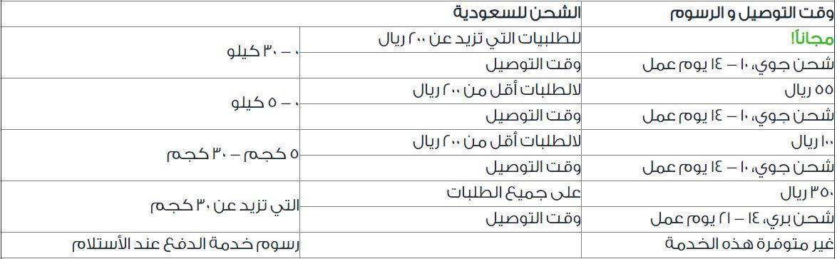 خدمة التوصيل في ممزورلد السعودية