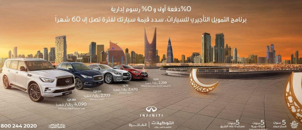 عروض رمضان للسيارات 2021 انفينيتي السعودية بنك الرياض