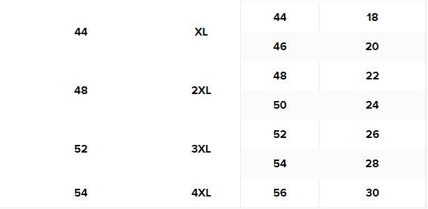 قياسات الملابس العلوية من ماكس للنساء