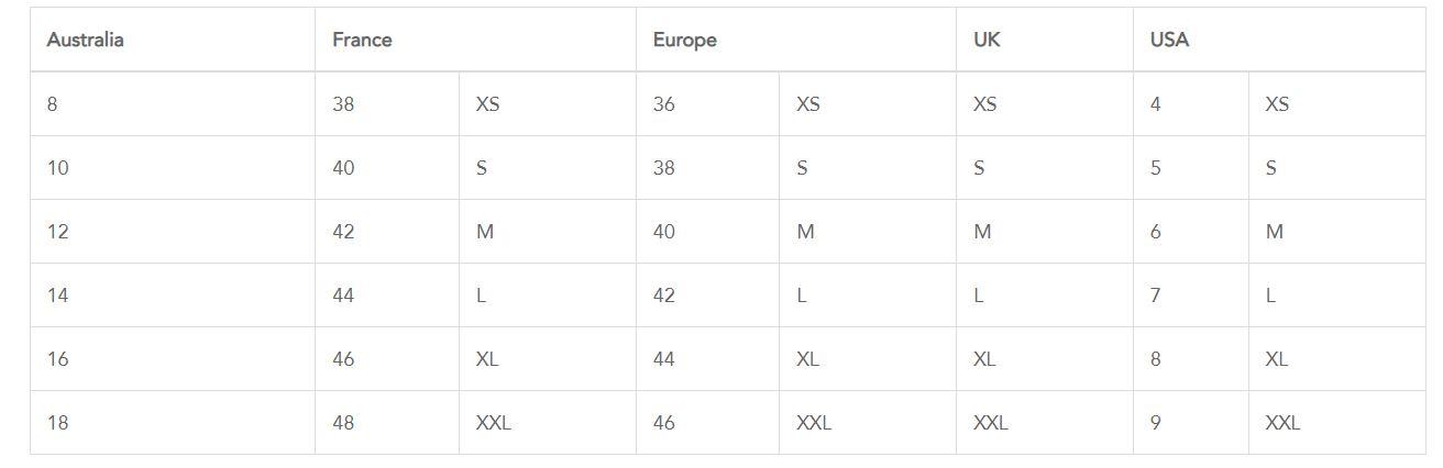 دليل قياسات السراويل الداخلية من Kenz