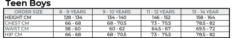 قياسات الاولاد الصغر من سن 8 الى 14 سنة فى موقع R&B